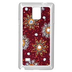 India Traditional Fabric Samsung Galaxy Note 4 Case (white)