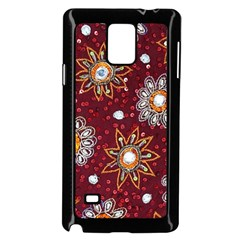 India Traditional Fabric Samsung Galaxy Note 4 Case (black)