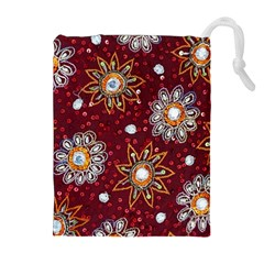 India Traditional Fabric Drawstring Pouches (Extra Large)