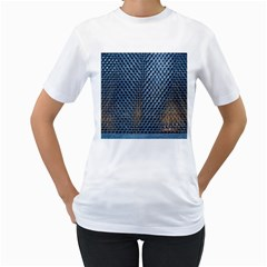 Parametric Wall Pattern Women s T Shirt (white) (two Sided)