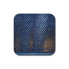 Parametric Wall Pattern Rubber Square Coaster (4 Pack)