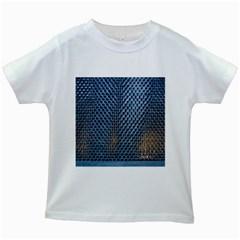 Parametric Wall Pattern Kids White T-Shirts