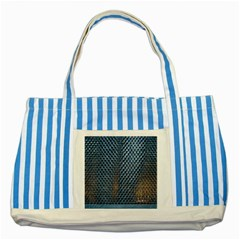 Parametric Wall Pattern Striped Blue Tote Bag