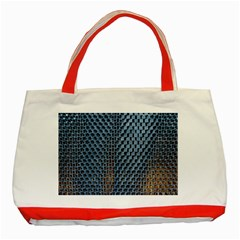 Parametric Wall Pattern Classic Tote Bag (red)
