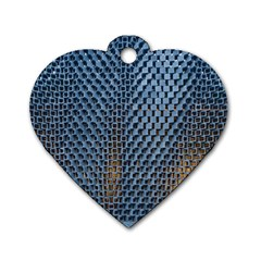 Parametric Wall Pattern Dog Tag Heart (one Side)