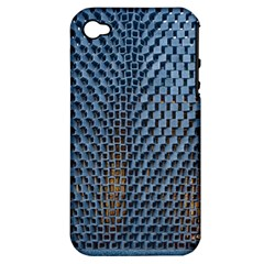Parametric Wall Pattern Apple Iphone 4/4s Hardshell Case (pc+silicone)