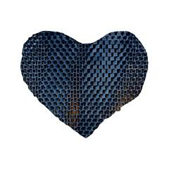 Parametric Wall Pattern Standard 16  Premium Heart Shape Cushions