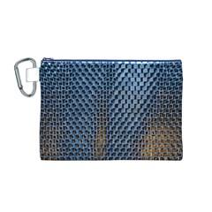 Parametric Wall Pattern Canvas Cosmetic Bag (m)