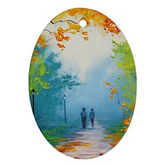Park Nature Painting Ornament (oval)