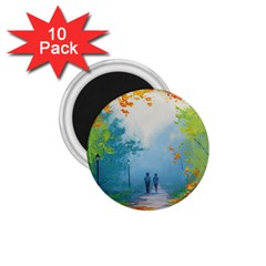 Park Nature Painting 1 75  Magnets (10 Pack)