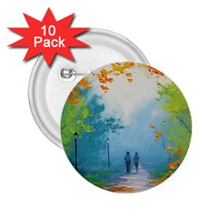 Park Nature Painting 2 25  Buttons (10 Pack)