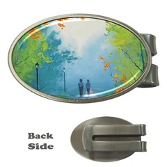 Park Nature Painting Money Clips (Oval)