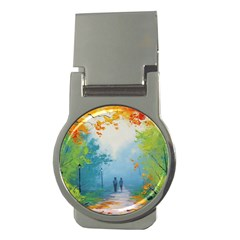 Park Nature Painting Money Clips (round)