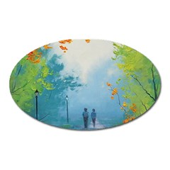 Park Nature Painting Oval Magnet