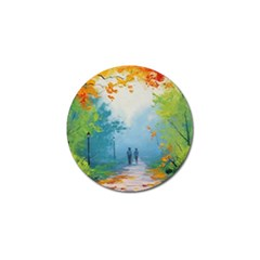 Park Nature Painting Golf Ball Marker