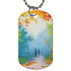 Park Nature Painting Dog Tag (Two Sides)