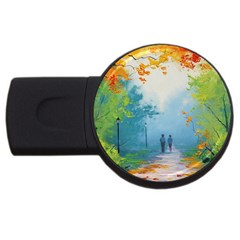 Park Nature Painting Usb Flash Drive Round (2 Gb)