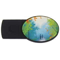 Park Nature Painting USB Flash Drive Oval (2 GB)