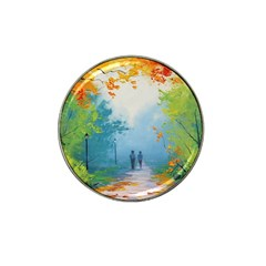 Park Nature Painting Hat Clip Ball Marker (4 pack)