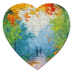 Park Nature Painting Jigsaw Puzzle (heart)
