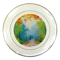 Park Nature Painting Porcelain Plates