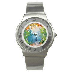 Park Nature Painting Stainless Steel Watch