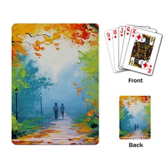 Park Nature Painting Playing Card