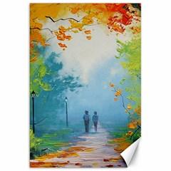 Park Nature Painting Canvas 20  X 30