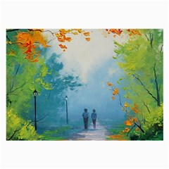 Park Nature Painting Large Glasses Cloth (2 Side)
