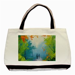 Park Nature Painting Basic Tote Bag (two Sides)