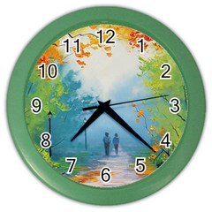 Park Nature Painting Color Wall Clocks