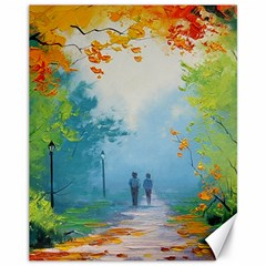 Park Nature Painting Canvas 11  X 14