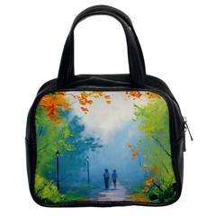 Park Nature Painting Classic Handbags (2 Sides)