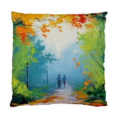 Park Nature Painting Standard Cushion Case (two Sides)