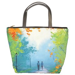 Park Nature Painting Bucket Bags
