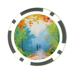 Park Nature Painting Poker Chip Card Guard (10 pack)