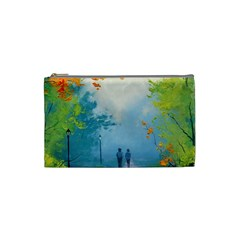 Park Nature Painting Cosmetic Bag (small)