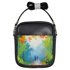 Park Nature Painting Girls Sling Bags