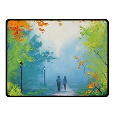 Park Nature Painting Fleece Blanket (small)