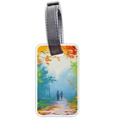 Park Nature Painting Luggage Tags (two Sides)