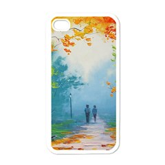 Park Nature Painting Apple Iphone 4 Case (white)