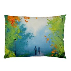 Park Nature Painting Pillow Case (two Sides)
