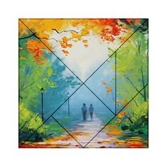 Park Nature Painting Acrylic Tangram Puzzle (6  X 6 )