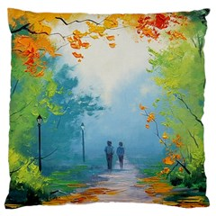 Park Nature Painting Large Cushion Case (two Sides)