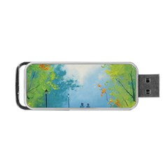 Park Nature Painting Portable USB Flash (Two Sides)