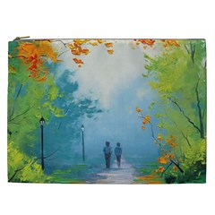 Park Nature Painting Cosmetic Bag (XXL)