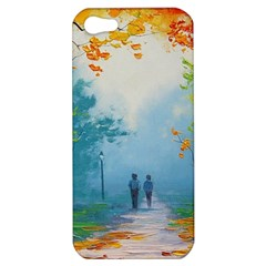 Park Nature Painting Apple Iphone 5 Hardshell Case