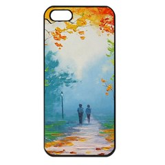 Park Nature Painting Apple Iphone 5 Seamless Case (black)