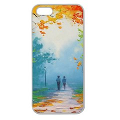 Park Nature Painting Apple Seamless Iphone 5 Case (clear)