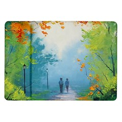 Park Nature Painting Samsung Galaxy Tab 10 1  P7500 Flip Case